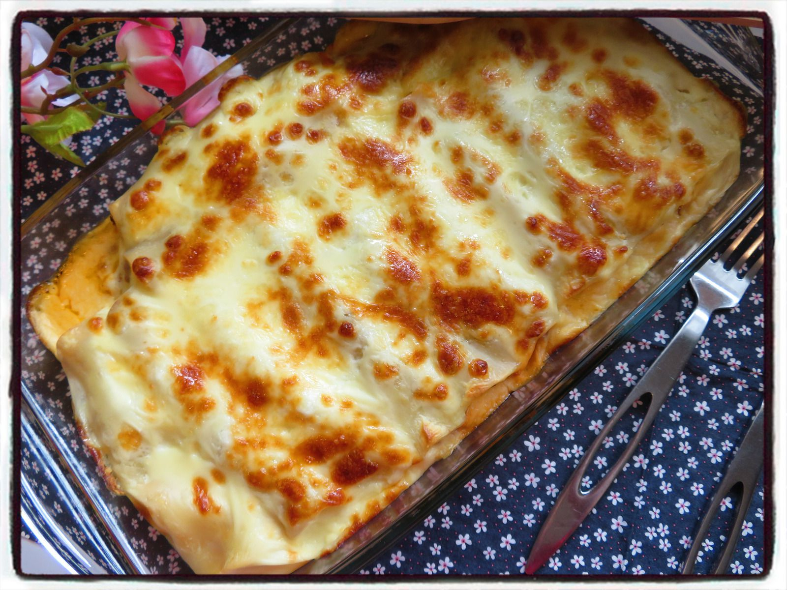 cannellonis tomate béchamel