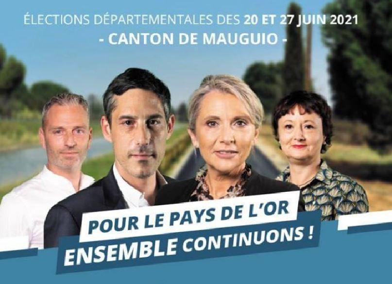 Des candidats aux départementales à la rencontre des habitants place Auguste Renoir en fin de matinée ce samedi