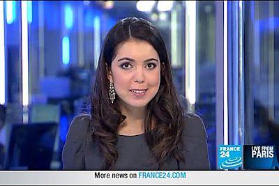 2012 01 18 @21H30 - LANAH KAMMOUREH, FRANCE 24, LIVE FROM PARIS
