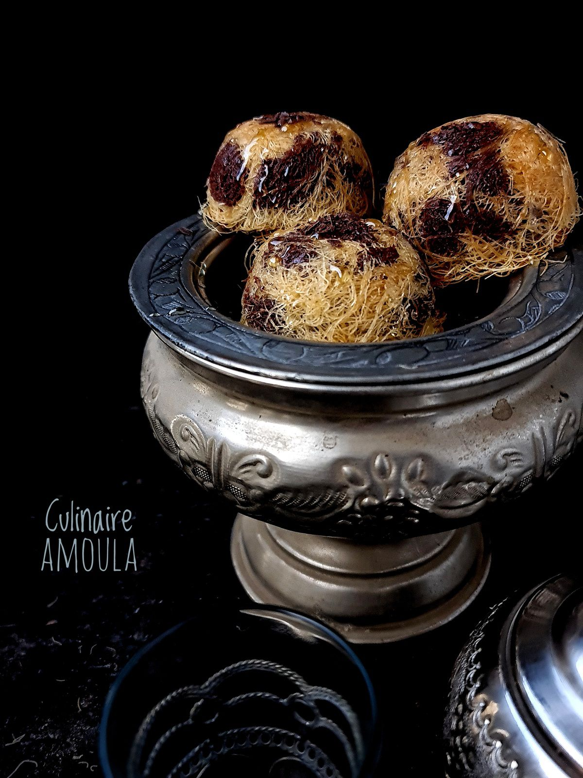 Konafa fondant au chocolat