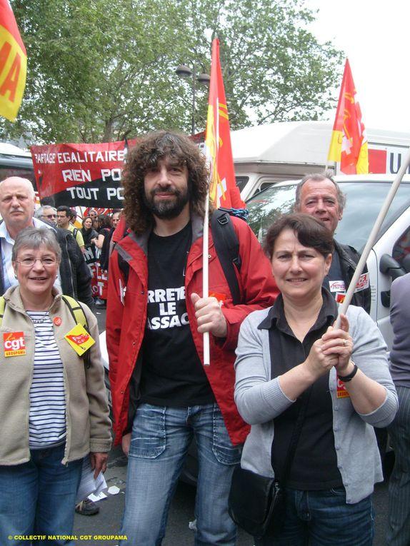 Lors de la manifestation du 1er mai 2010 à Paris les CGT Groupama étaient là