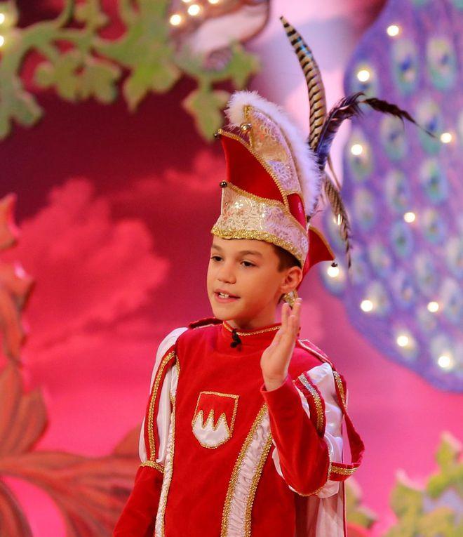 Als kesser Faschingsprinz wusste der zehnjährige Fabio Walter aus Rimpar zu gefallen.  Die Prinzenrolle stand dem Nachwuchsredner mit dem Lausbubencharme gut zu Gesicht.