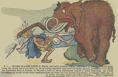 Un précurseur : A. Blondeau, des Gaulois, un Mammouth et un Diplodocus (1909)