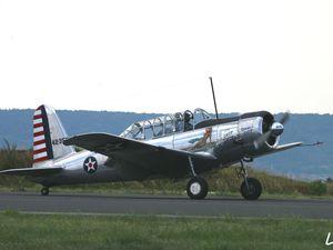 Le Nieuport 28 immatriculé LX-NIE (Luxembourg) et le Vultee Valiant N93 (Etats Unis) immatriculé à l'étranger et basé en France.
