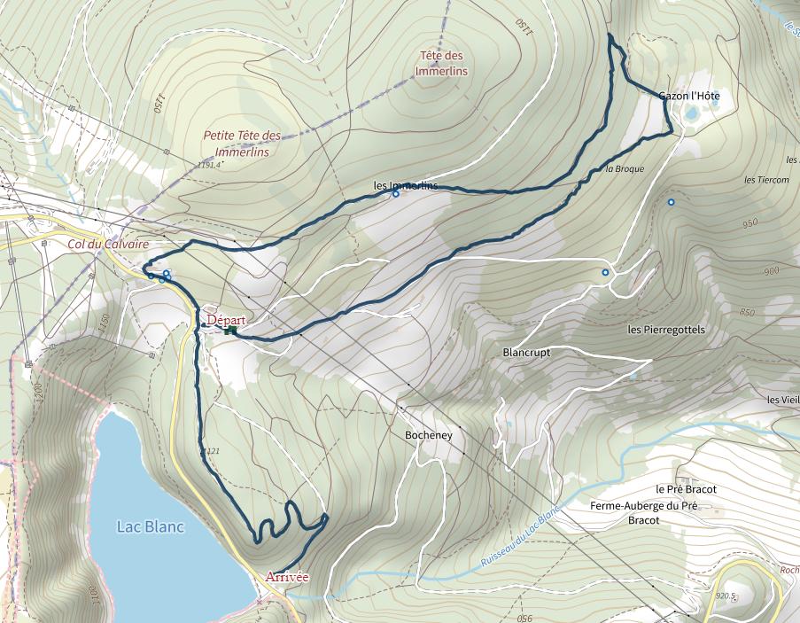 Massif des Immerlins-Lac Blanc.