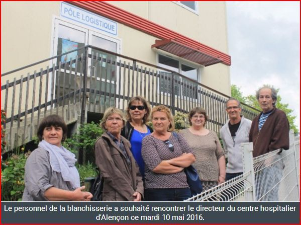 Lisieux: Le personnel de la blanchisserie de l'hôpital poursuit son action