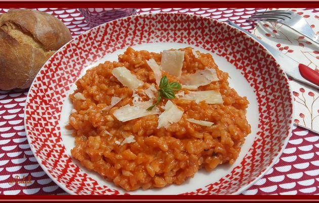 Risotto à la tomate et poulet