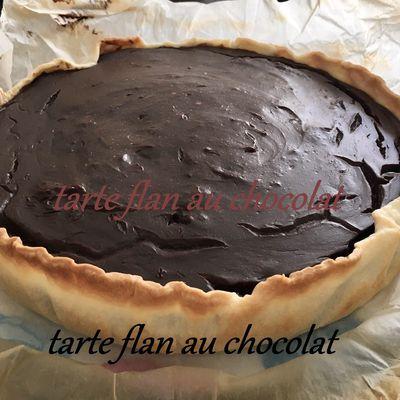Tarte flan au chocolat