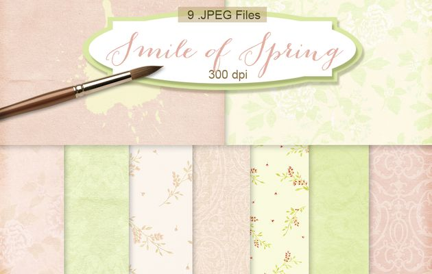 Digital Scrapbook Kit downloads freebies-Smile of Spring