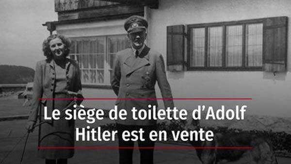 Le siège de toilette d'Adolf Hitler est en vente