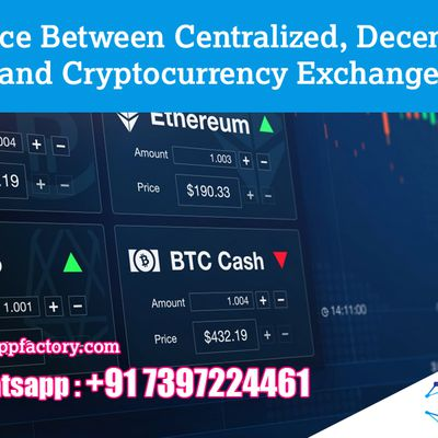 Difference Between Centralized,Decentralized And Cryptocurrency Exchange - Crypto App Factory