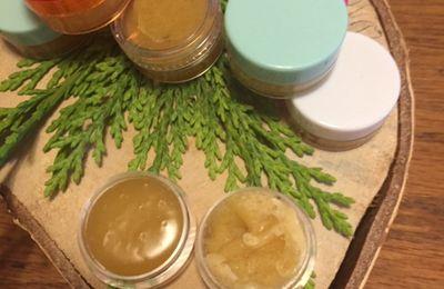 Petites boîtes pour les lèvres au miel