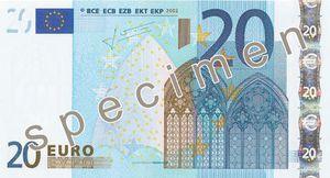 Nouveau billet de 20euros: mise en circulation prévue le 25novembre2015