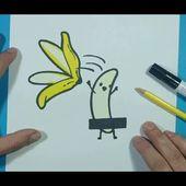 Como dibujar un platano paso a paso   How to draw a banana