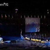Kjersti Alveberg, OL Lillehammer 94. Entry Albertwille. French Olympic´s.
