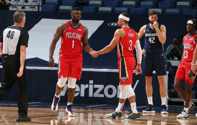 Zion Williamson trop fort pour les Dallas Mavericks (38 points, 5 rebonds et 6 passes)