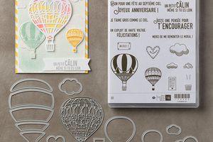 Projet Montgolfière Stampin'Up ! Artisan Blog Hop Février