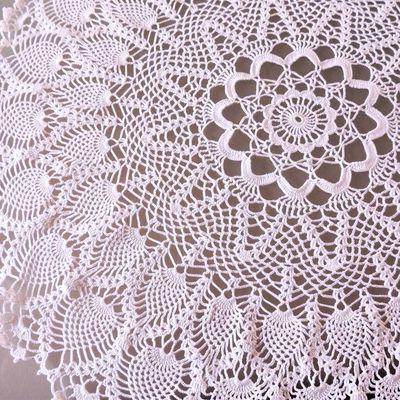 napperon rond blanc 65 cm environ