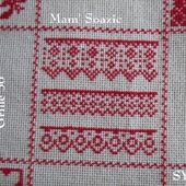 SAL : Plaid Broderie Rouge... Grille 56 /G3 - Chez Mamigoz