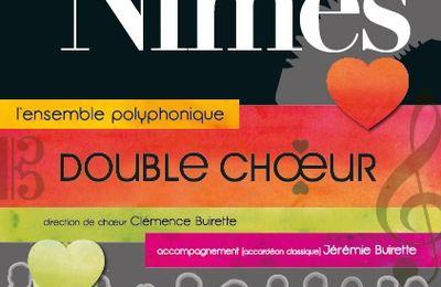 Double Choeur Concert le Dimanche 10 juin 2018 à 16h30 à l'Eglise de Bethléem à Nîmes