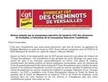 CHEMINOTS CGT de VERSAILLES : NON au soutien à l'opération MARKEL-MACRON !