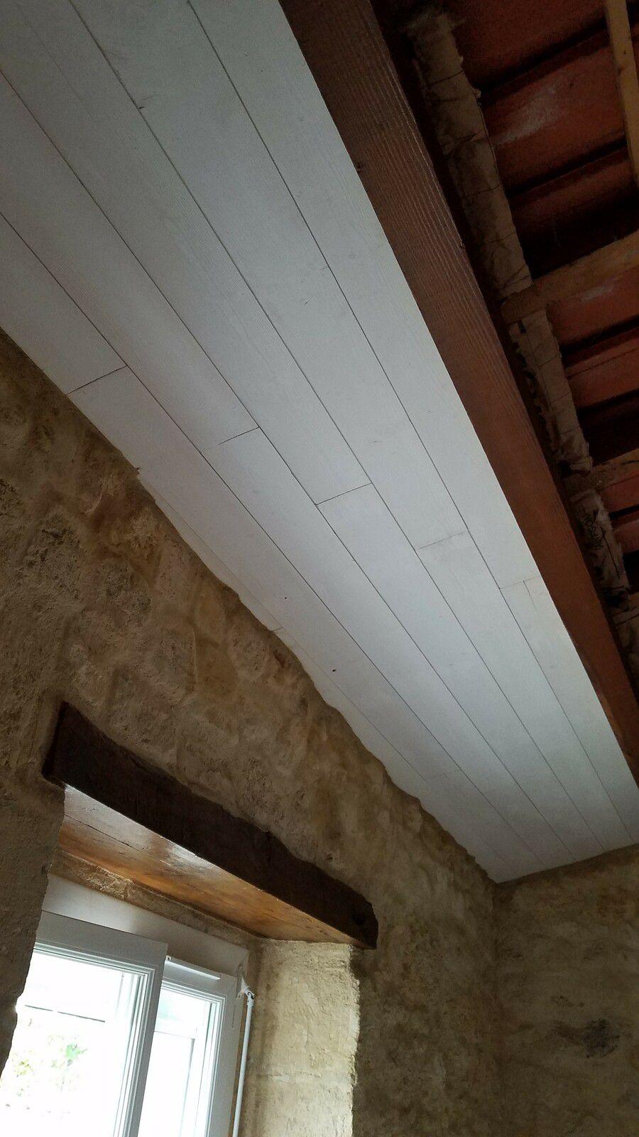 1 ère partie du plafond terminée, il me faut rejouer de la chaud pour combler mes trous