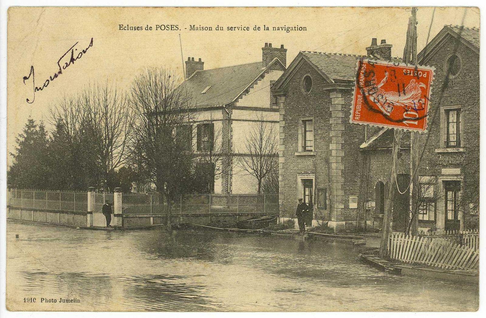 Cartes postales de Poses des fonds des Archives départementales de l'Eure.