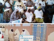 """A Biltine, l'ONG AHA sensibilise sur l'importance de la """"carte d'électeur""""."""