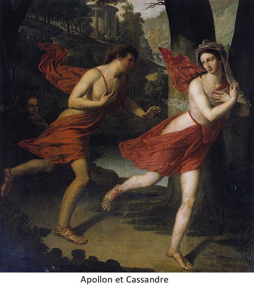 Cassandre poursuivie par Appolon.