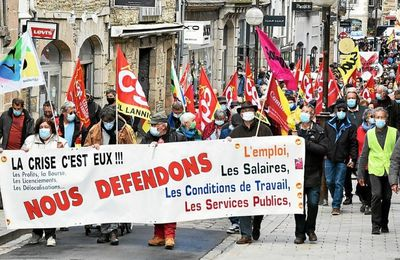 1° Mai à Lannion et Guingamp! Pleine réussite pour la reprise! « C'est par notre détermination que reviendra le temps des cerises »