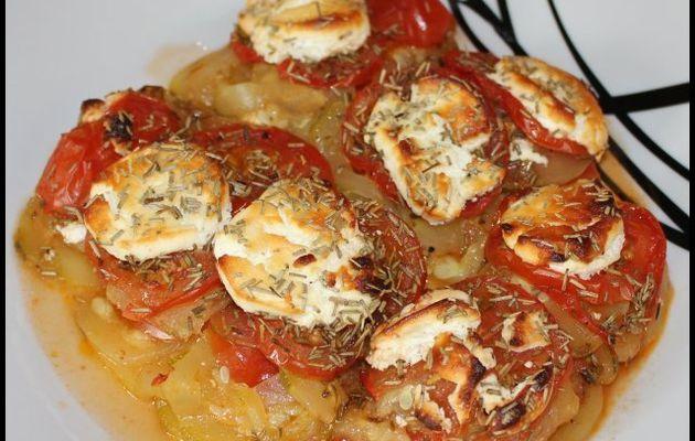 Courgettes et tomates gratinées