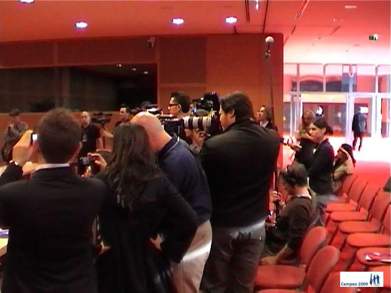 Meeting inter-régional pour le parti de la Majorité Présidentielle. Tous le staff de l'UMP avait fait le déplacement autour de Françoise Grossetête.