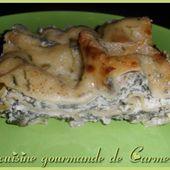 Lasagnes, aux épinards et aux trois fromages - Cuisine gourmande de Carmencita