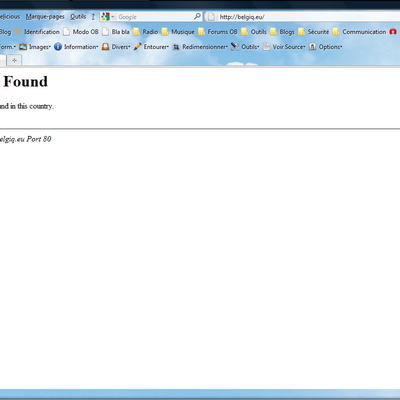 Belgique : 404 Government Not Found