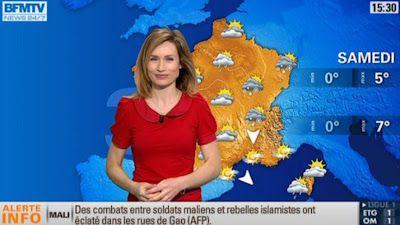 2013 02 10 - SANDRA LARUE - BFM TV - LA METEO @15H15