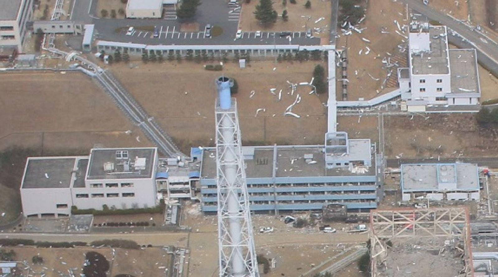 Photos aériennes de Fukushima Daiichi de mars 2011