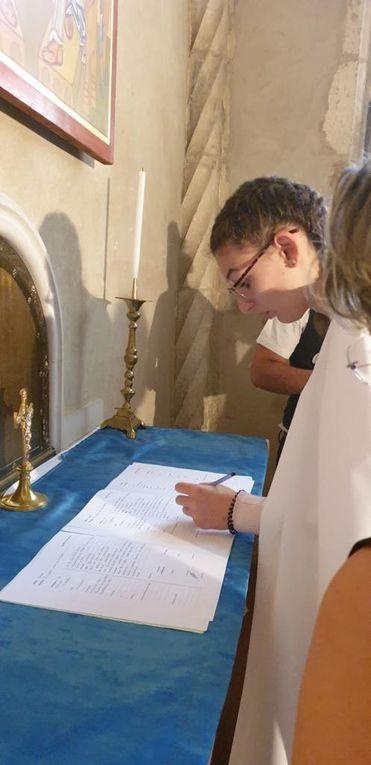 Baptême, confirmation et 1ère communion de Lisette et Emilie.