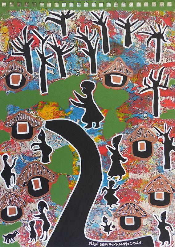 Peintures d'Elise Desvaux Nsongo