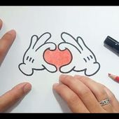Como dibujar las manos de Mickey Mouse paso a paso | How to draw the hands of Mickey Mouse
