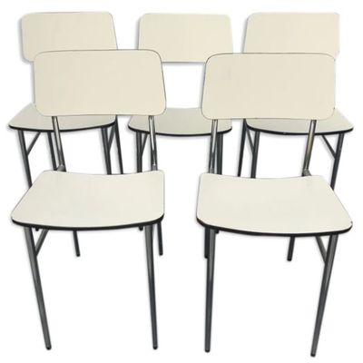 LOT 5 CHAISES FORMICA 1970 - 100 euros