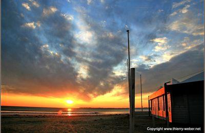 Coucher de soleil sur la baie de La Baule