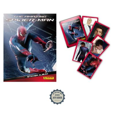 THE AMAZING SPIDER-MAN by MARVEL : ALBUM PANINI 2012 + SET COMPLET D'IMAGES A COLLER