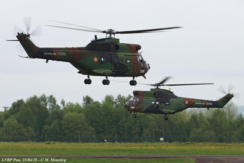 Mise en route et départ des Puma. Ils simulent l'emport de munitions à destination de la base avancée et emportent également des sections de combat pour l'assaut du camp.