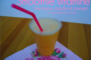 Smoothie vitaminé (nectarine, carotte, orange)