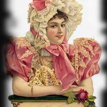 Amitié rose brodée !