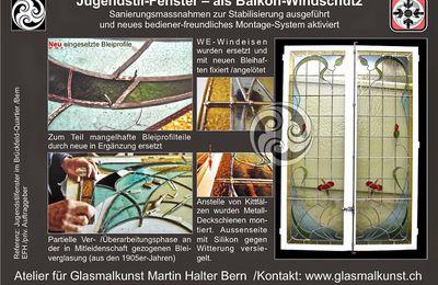 Bleiverglasungen Schweiz Atelier ©Martin Halter Bern