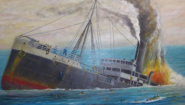 10 mai 1917 torpillage de La Medjerda.