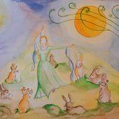 L'histoire d'Ostara et la danse des lapins
