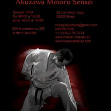 Akuzawa Minoru en Europe, 14 au 22 avril