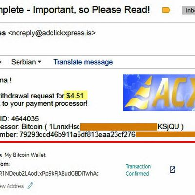 My No59 Withdrawal proof from AdClickXpressCrypto